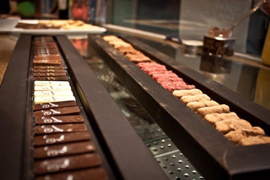 Piano de bombones y trufas