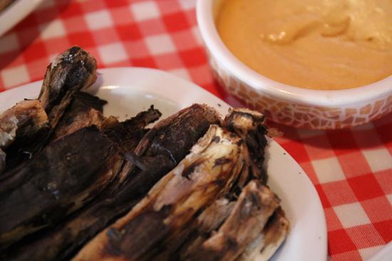 Calçots con salsa romesco en Vielha