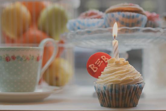 Cupcake de Meyvi para celebrar el primer aniversario de Blog on Brands