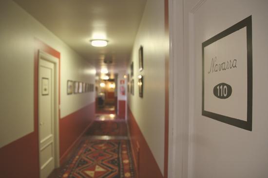 Pasillos del Hotel Zubieta en Lekeitio