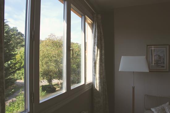 Vistas desde la ventana de la habitación del Hotel Zubieta en Lekeitio