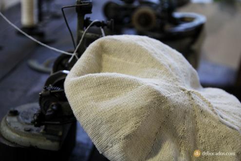 Base de una boina en la fábrica-museo Boinas La Encartada en Balmaseda (Encartaciones)