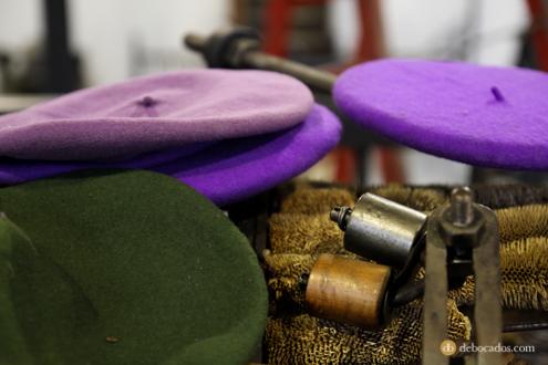 Maquina de cardos en la fábrica-museo Boinas La Encartada en Balmaseda (Encartaciones)