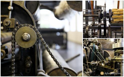 Conjunto de máquinas de la fábrica-museo Boinas La Encartada en Balmaseda (Encartaciones)