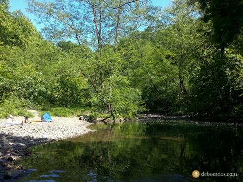 Pozas en el río Urumea en la zona de Pagoaga