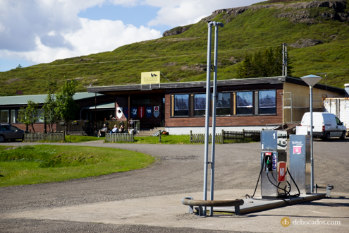 Surtidores de gasolineras en Islandia