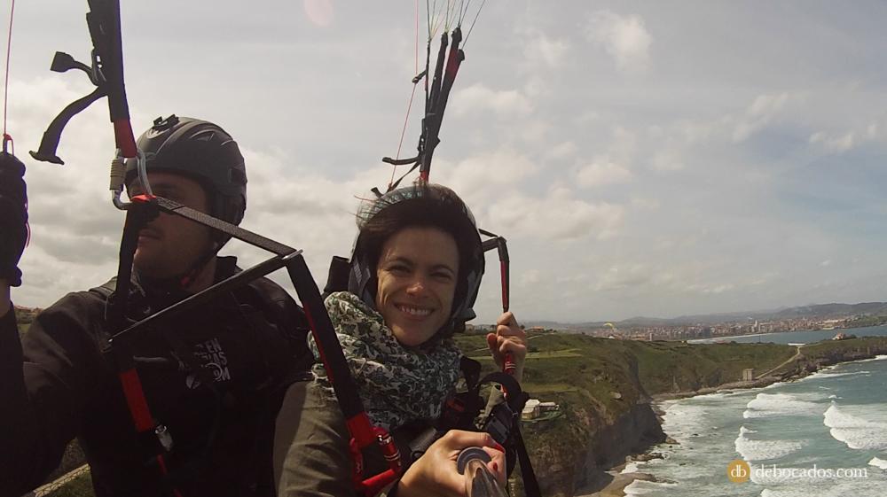 Parapente en Gijón con la empresa Volar en Asturias.