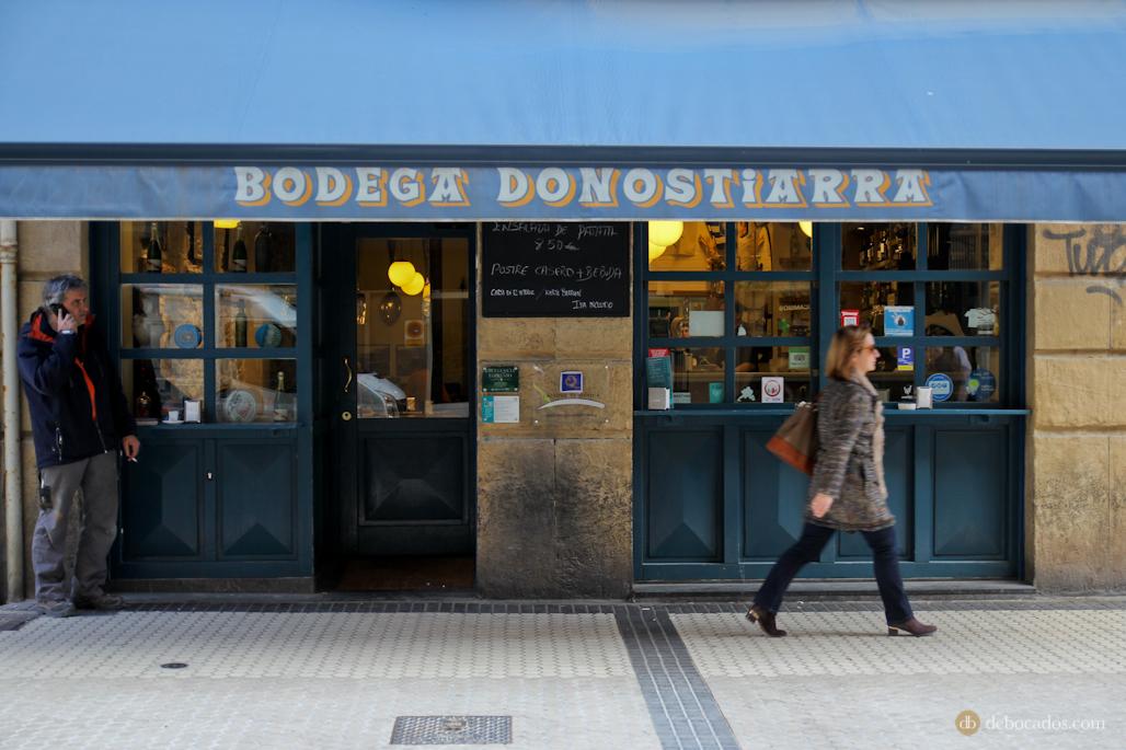 La Bodega Donostiarra, en la calle Peña y Goñi.
