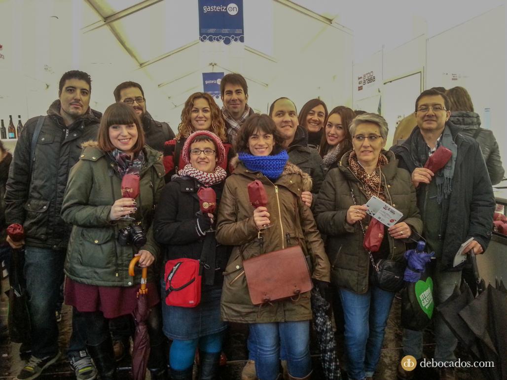 Foto del grupo de bloggers que asistieron a Ardoaraba 2014