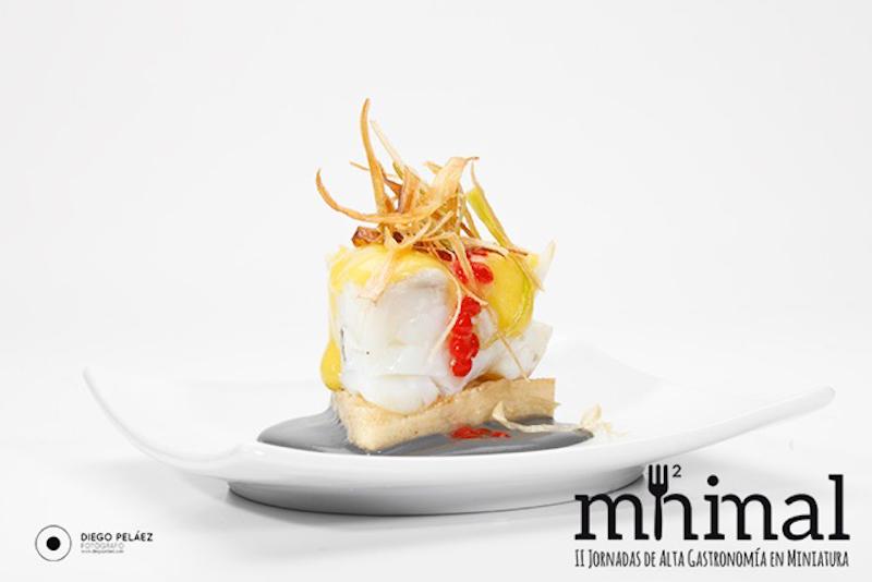 Polenta de hongos con bacalao de los Hnos.Kortabitarte