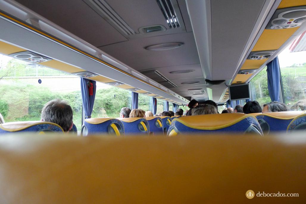 En autobús camino a la Feria Plantas de Colección en Iturraran