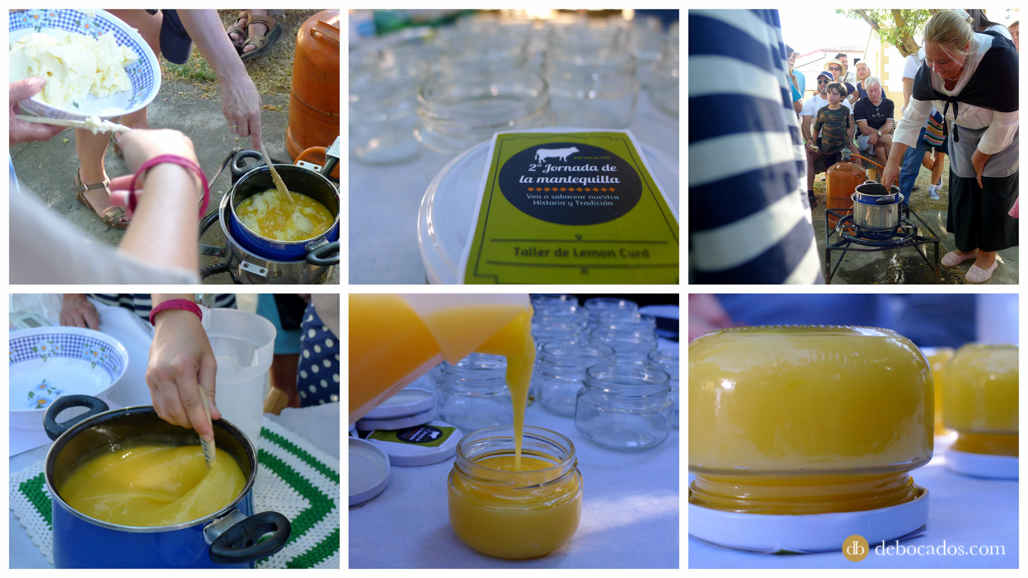 Receta de lemon curd con mantequilla de Soria en Valdeavellano de Tera