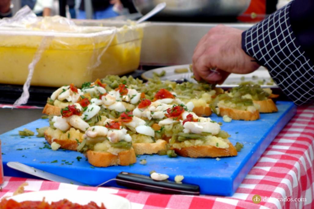 Show cooking en el mercado de la Marina de Hondarribia, en la comarca del Bidasoa