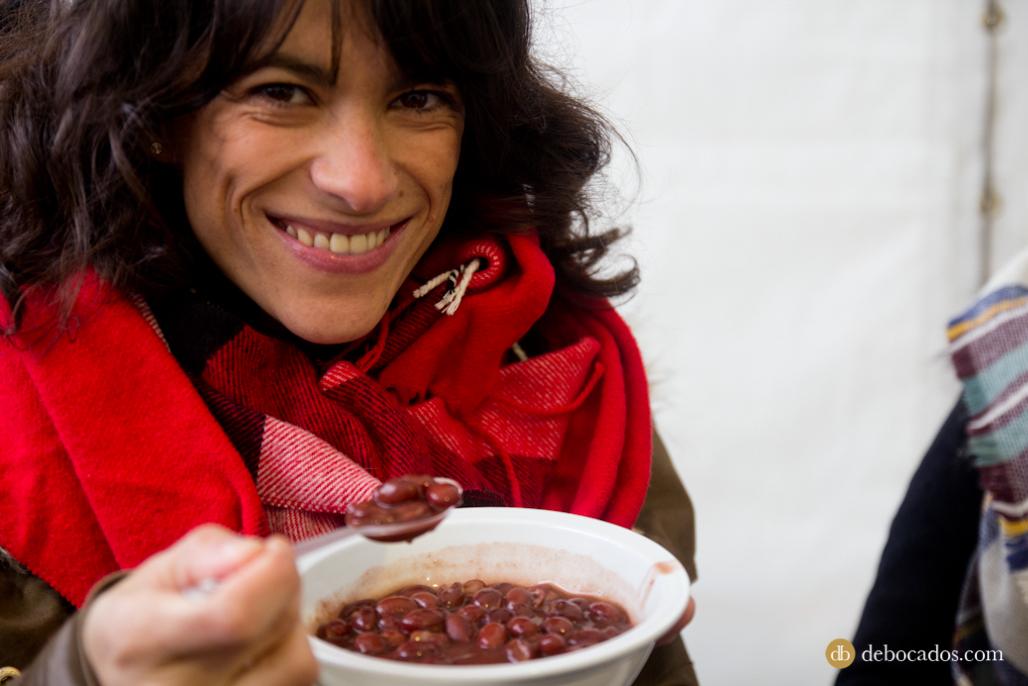 Degustando alubias negras de Tolosa