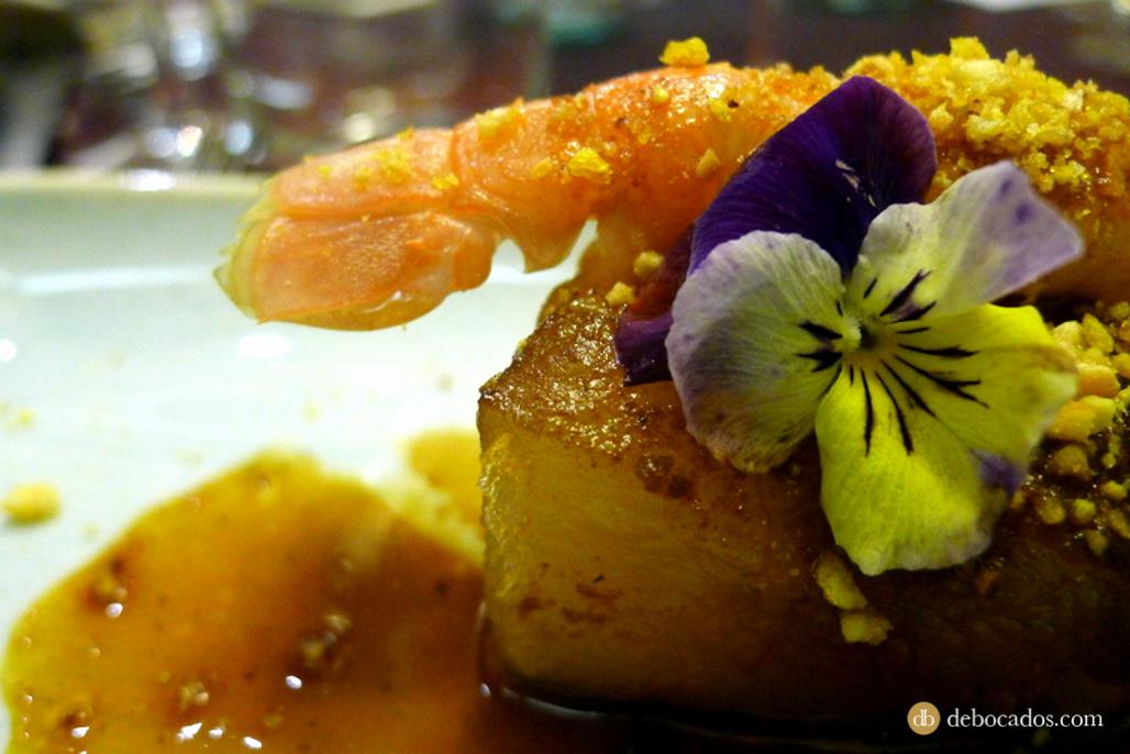 Papada Carrasco de Mardu con cigala. Restaurante Antxon en Irun