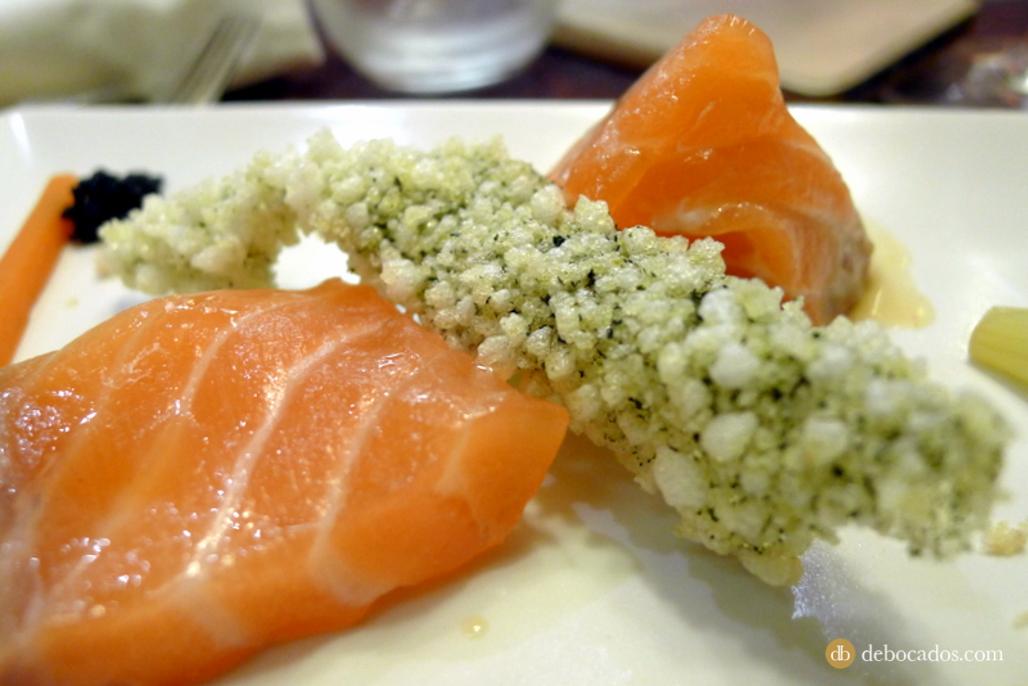 Salmón marinado. Restaurante Antxon en Irun